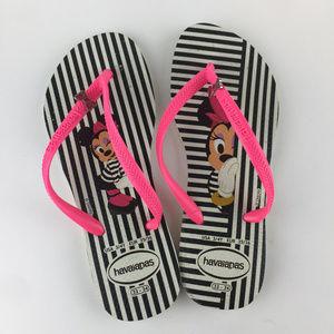 EUC Havaianas Girls FlipFlop slipper Peekaboo Mini